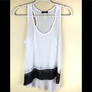 DEB White/Black Tank Top Sz looks to be as small